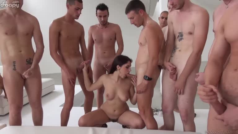 Gang bang facial cum party compilation-7545