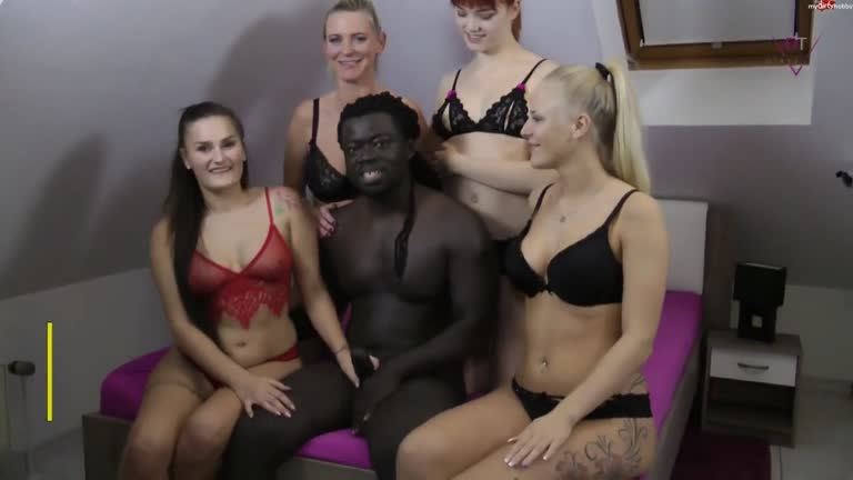 Black Immigrant Shags 4 German Girls.
