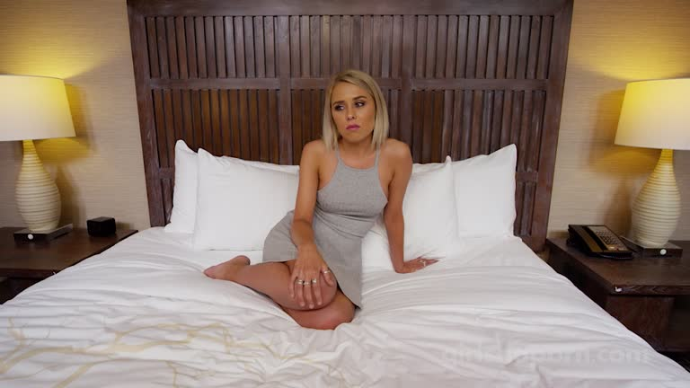 Bombshell Blonde Teen's First Time In Porn Action