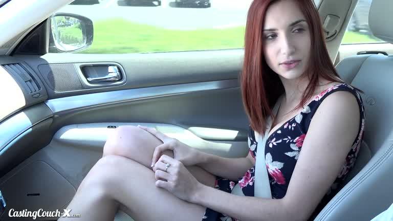 April Snow - First Porno Casting