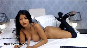 Big Dildo Anal Riding Fantasy For Busty Brunette