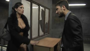 large breasted woman forced to have sex by prisoner in his cell.