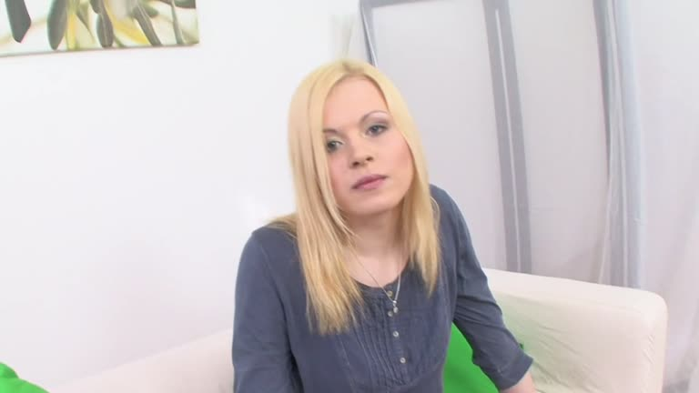 Sensational Blonde Casting Scene