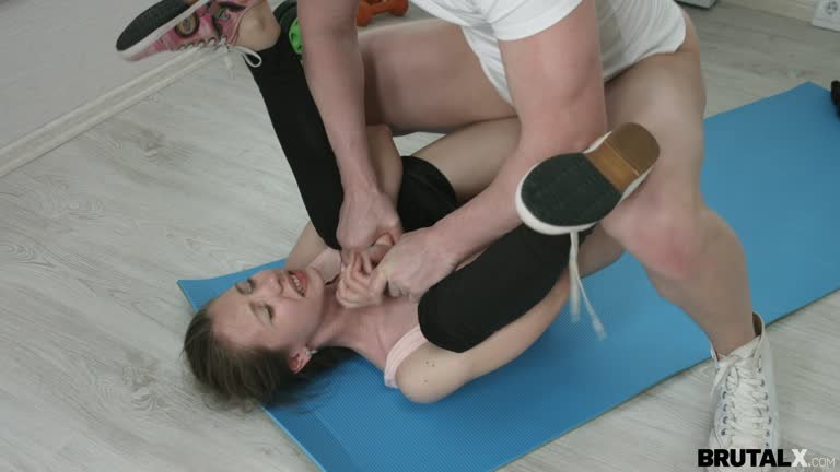 Skinny Young Teen Fucked On Anal During Yoga