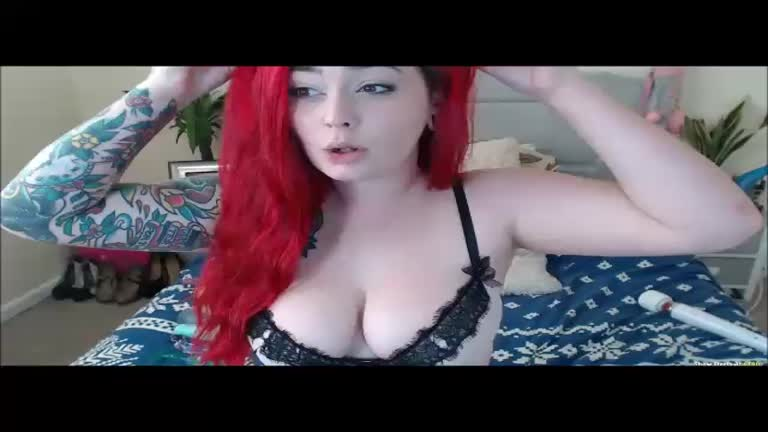 Redheaded Babe Triple Dildo Treat