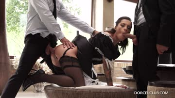 Nikita Bellucci - Maid Nikita gets fucked by 2 men