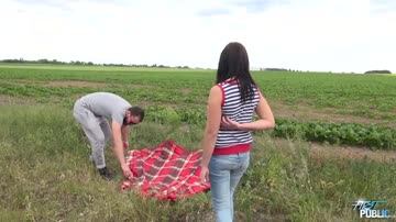 Cute Russian Teen Fucked In A Field