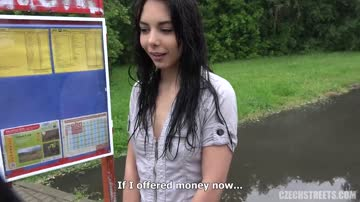 Cute Brunette Teen Fucked Outdoor