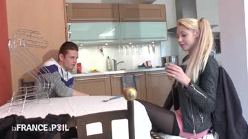 French teen blonde complete scene