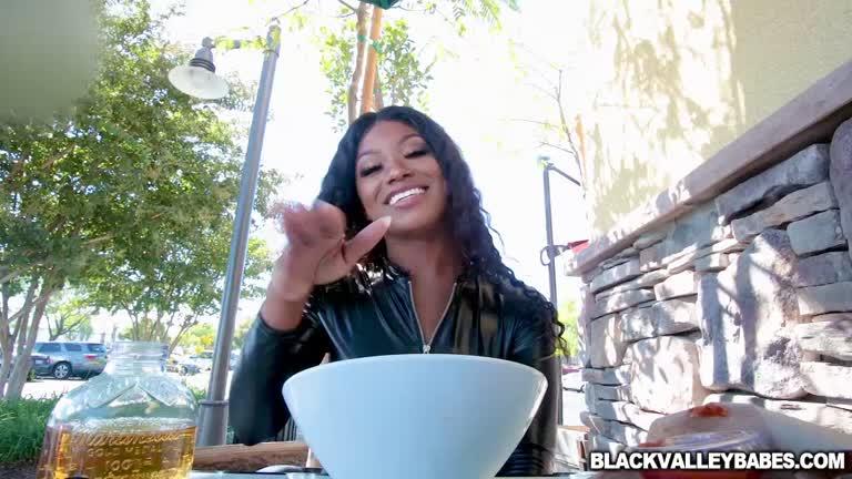 Wrex Oliver Feeding Ebony Canadian Raised Evi Rei His Fat Cock