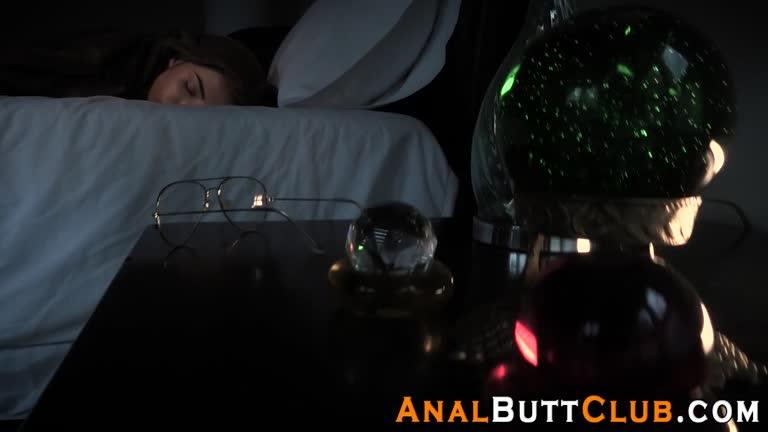 men shoved to the bed