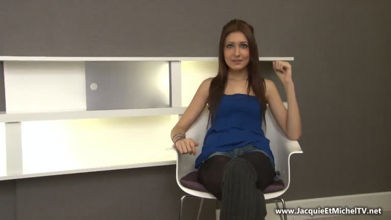 French Anal Casting Teen